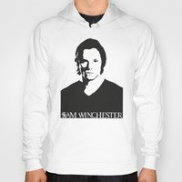 sam winchester Hoodies featuring Sam Winchester by TeganFanella