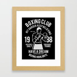 boxing club Framed Art Print