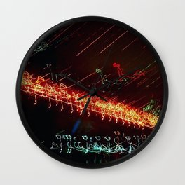 Brooklyn Night View Wall Clock