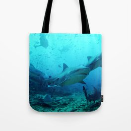 magnificent bull sharks Tote Bag