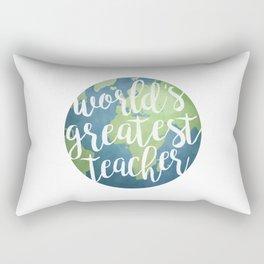 World's Greatest Teacher Rectangular Pillow
