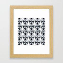 Schnauzer pattern-Grey Dog illustration original painting print Framed Art Print