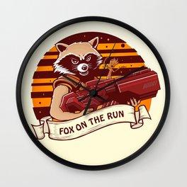 Rocket Raccoon / Fox on the Run Wall Clock