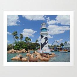Sea World entrance Art Print
