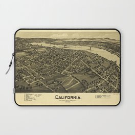 Aerial View of California, Pennsylvania by T.M. Fowler (1902) Laptop Sleeve
