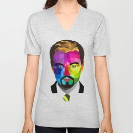 Leonardo DiCaprio - popart portrait Unisex V-Neck