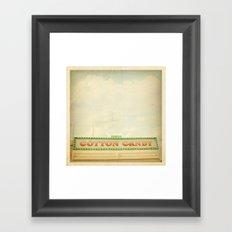 Cotton Candy Stand Framed Art Print