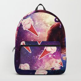 Rave Space Cat On Bear Unicorn - Ice Cream Backpack