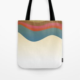Fashion zigzag lines pink blue Elements Tote Bag