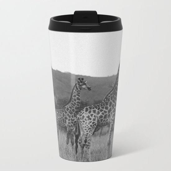 Kaleidoscope of Giraffes Metal Travel Mug