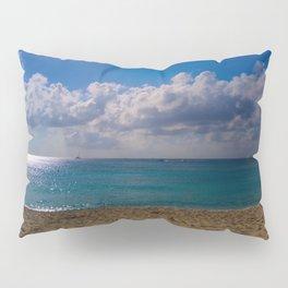 Seaside Under Umbrellas Pillow Sham