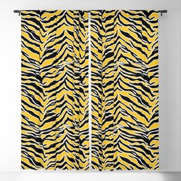 Tiger Print - Mustard Yellow Blackout Curtain