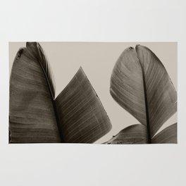 Banana Tree Leaves in Sepia Rug
