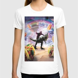 233cd65c Space Sloth Riding Dinosaur Unicorn - Hotdog & Taco T-shirt