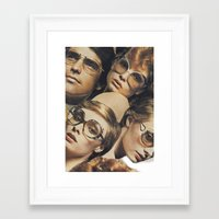 hydra Framed Art Prints featuring Hydra by WeLoveHumans