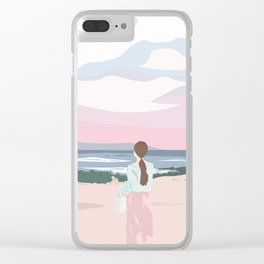 Sunset On The Beach Clear iPhone Case