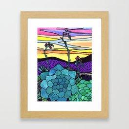 Succulent Sunset Framed Art Print