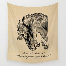 Shakespeare - Richard III - Kingdom for a Horse Wall Tapestry