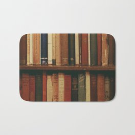 shelf of books Bath Mat