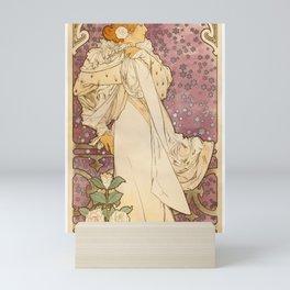 Alphonse Mucha - Poster of Sarah Bernhardt at the Theatre de la Renaissance (1894) Mini Art Print