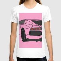 lamborghini T-shirts featuring Lamborghini Aventador by societystar