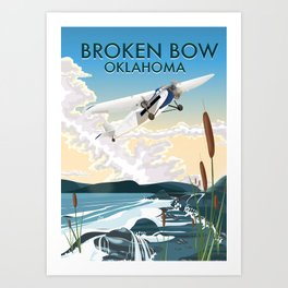 Broken Bow Oklahoma Art Print