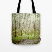 irish Tote Bags featuring Irish Forest  by MojoPhoto59
