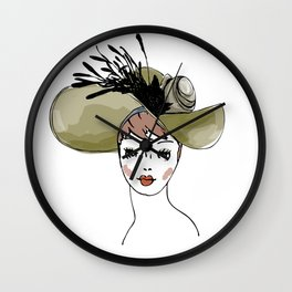 Kentucky Derby Hat Wall Clock
