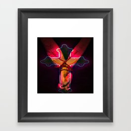 CECI EST MON SANG this is my blood Framed Art Print
