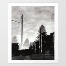 Ghostly Lines Art Print
