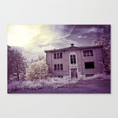 Old Edmonton High School | Infrared in Purple Canvas Print
