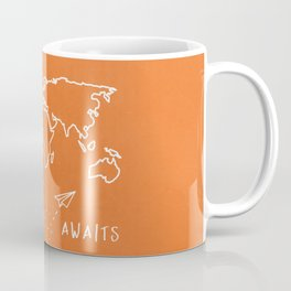 Adventure Map - Retro Orange Coffee Mug