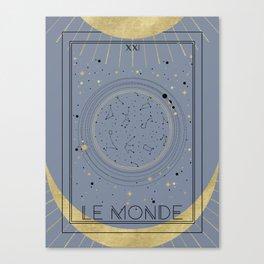 The World or Le Monde Tarot Canvas Print
