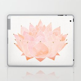 Blush Zen Lotus ~ Metallic Accents Laptop & iPad Skin