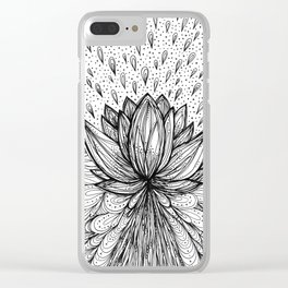 The Immortal Lotus Clear iPhone Case