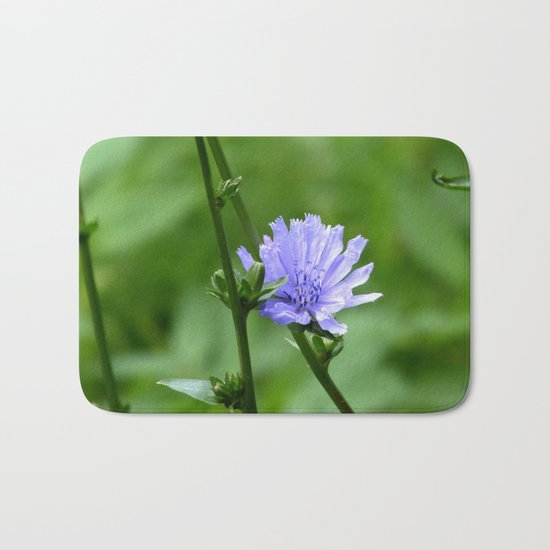 Nature's Garden Purple And Green Bath Mat