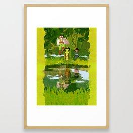 Tengu, Kappa, and Zashikiwarashi - Japanese Monsters Framed Art Print