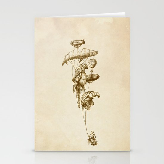 The Helium Menagerie (sepia) Stationery Cards