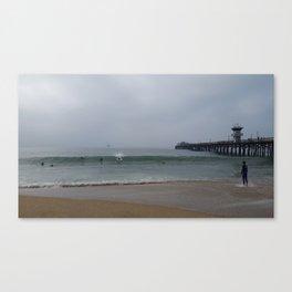 Seal Pier Morning Canvas Print
