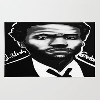 childish gambino Area & Throw Rugs featuring Gambino Variant by Joshua Beckett