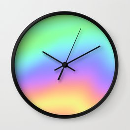 Holographic Foil Colorful Gradient Pattern Wall Clock