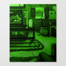 Link's gaming room - Only true gamers know Canvas Print