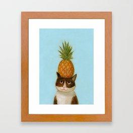 Pineapple Cat Framed Art Print
