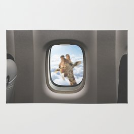 Funny Giraffe - Window Seat  Rug