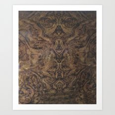 Faces in Wood Art Print