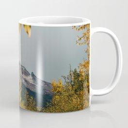 Mt. Hood Through The Leaves Coffee Mug