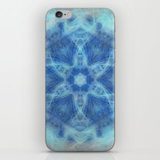 Wispy fairy kaleidoscope in blue iPhone & iPod Skin