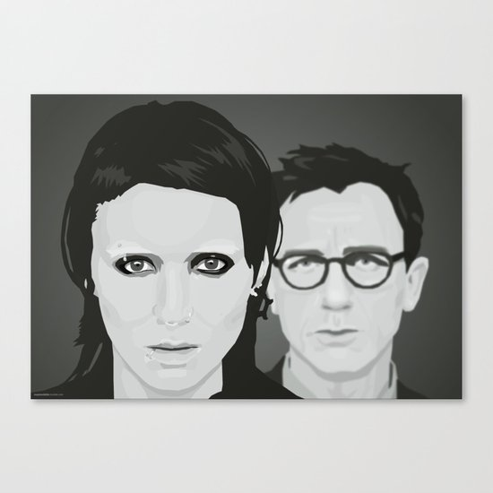 Lisbeth and Mikael / The Girl with the Dragon Tattoo Canvas Print