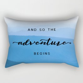 Smoky Mountains -  And So The Adventure Begins Rectangular Pillow