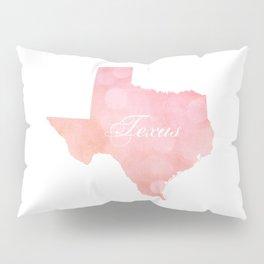 Texas Pink and Coral Bokeh Pillow Sham